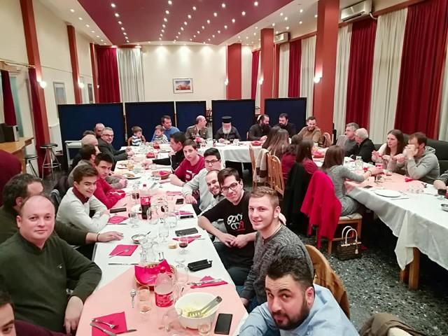Δείπνο παρέθεσε ο Μητροπολίτης στα μέλη του Βυζαντινού Χορού «Ο Άγιος Νεομάρτυρας Λάζαρος ο Τριπολίτης» (pics)