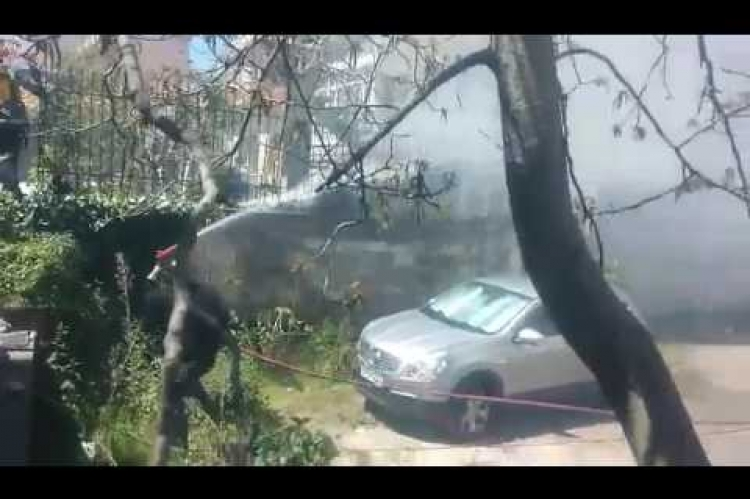 ArcadiaPortal.gr - Φωτιά στην οδό Χατζηχρήστου στην Τρίπολη