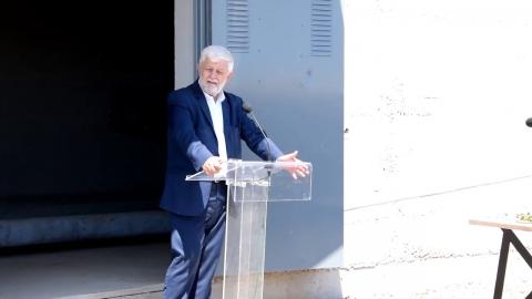Εγκαινιάστηκε το έργο αντικατάστασης του αγωγού μεταφοράς νερού από τις πηγές της Πιάνας