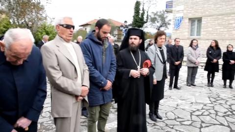 Κατάθεση στεφάνων στο Μνημείο των Πεσόντων στο Θεόκτιστο Γορτυνίας