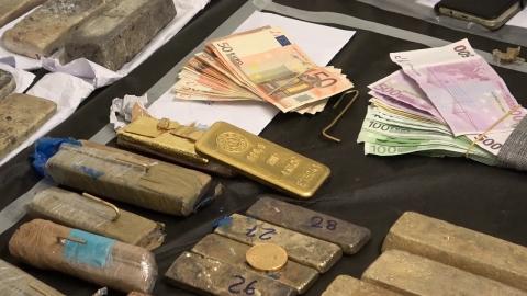Κατασχεθέντα  εξάρθρωσης εγκληματικών οργανώσεων, που δραστηριοποιούνταν  στο λαθρεμπόριο χρυσού