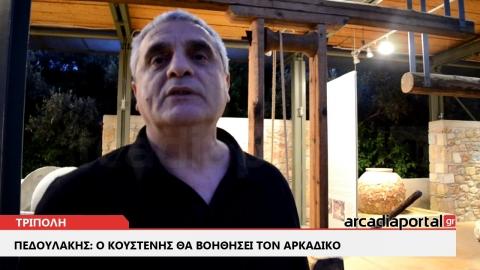 ArcadiaPortal.gr Πεδουλάκης: Ο Κουστένης θα βοηθήσει τον Αρκαδικό