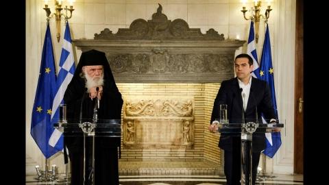 Κοινές δηλώσεις με τον Αρχιεπίσκοπο Αθηνών και πάσης Ελλάδος, κ. Ιερώνυμο