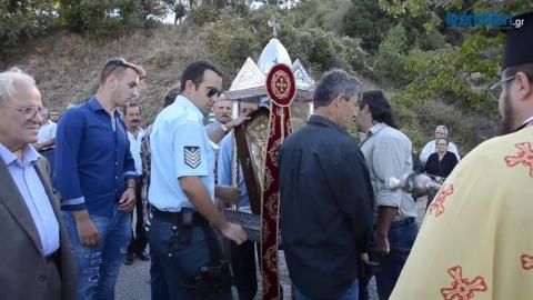 Υποδοχή της Εικόνας της Παναγίας Έλωνας στον Κοσμά