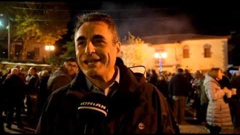 Ο Δήμαρχος Τρίπολης  στην γιορτή του Χειμώνα στην Αλωνίσταινα