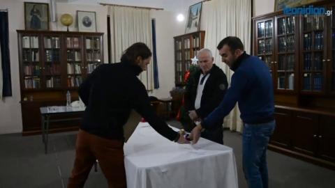 Κοπή Πρωτοχρονιάτικης Πίτας Εμπορικού Συλλόγου Λεωνιδίου