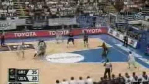 Εθνική άνδρες : Ελλάδα - ΗΠΑ 101-95 (1-9-2006) όλοι πόντοι