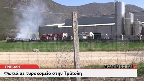 ArcadiaPortal.gr Φωτιά σε τυροκομείο στην Τρίπολη